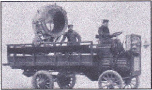 lorry mounted light, c1910